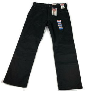 Wrangler 34/29 Straight Fit Pants Black Nwt